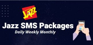 jazz sms packges