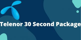 Telenor 30 Seconds Package