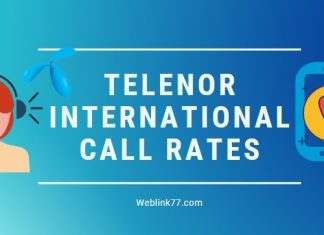 Latest Telenor International Call Rates