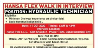 Walak in Interview Dubai Hansa Flex UAE