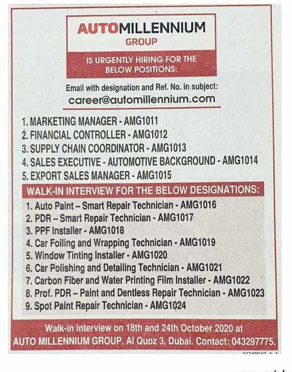 Marketing Manager, coordinator & other Jobs in Dubai