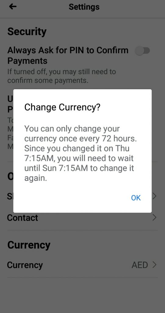 How to change currency on Facebook account