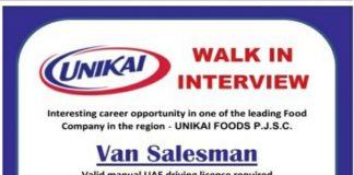 Walk In  Interview Jobs in Dubai Sales and Helper Position