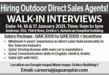 Walk in interviews Jobs in Qatar 2021